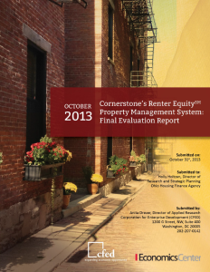 Report on Cornerstone's Renter EquitySM Property Management System for Ohio Housing Finance Agency (click to read)